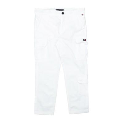 YOOX - トミーヒルフィガー TOMMY HILFIGER パンツ ホワイト 10 コットン 100% パンツ