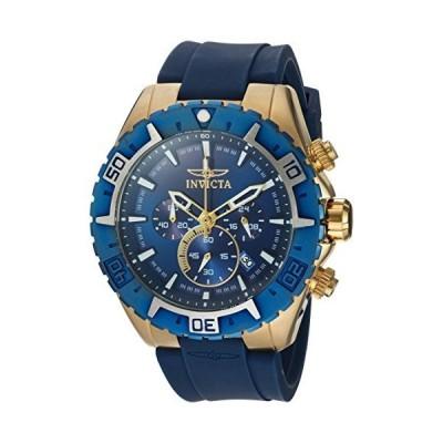 Invicta メンズ カジュアル腕時計 アビエイター クオーツ ステンレススチールとポリウレタン製 ブルー モデル 22525