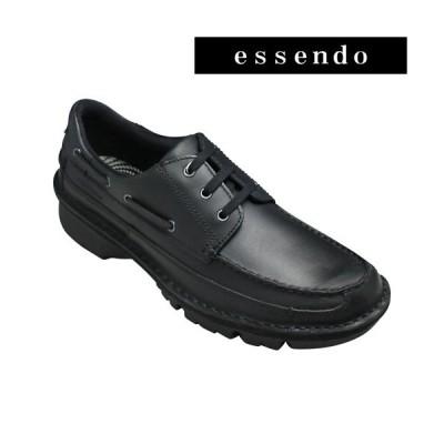 リーガルウォーカー カジュアルシューズ Uモカシン RE276W ブラック 3E幅 防滑タイプ REGAL メンズ 靴