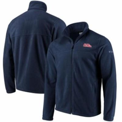 Columbia コロンビア スポーツ用品  Columbia Ole Miss Rebels Navy Flanker Full Zip Fleece Jacket