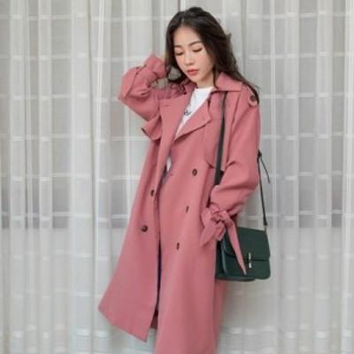 韓国ファッション ベーシック ナチュラル トレンチコート 3color