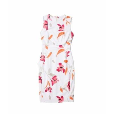 カルバンクライン ワンピース トップス レディース Floral Print Sheath Dress Coral Multi