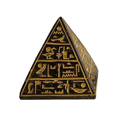 Discoveries Egyptian Imports ピラミッドアンティークゴールド Lサイズ 3.5インチ エジプト製 並行輸入品
