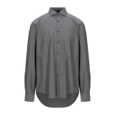 YOOX - トミーヒルフィガー TOMMY HILFIGER シャツ グレー XL コットン 100% シャツ