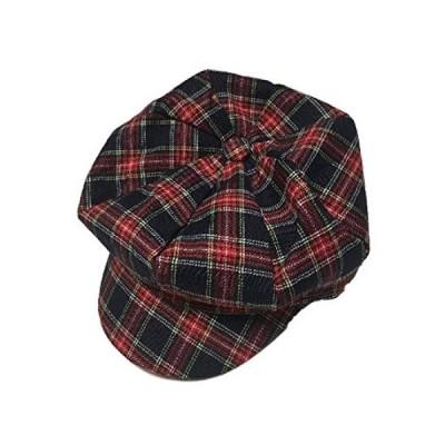 (ボナスティモーロ) Buona stimolo レディース キャスケット つば付き ハンチング帽 チェック ストライプ デニム (02