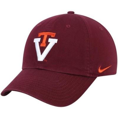 ユニセックス スポーツリーグ アメリカ大学スポーツ Virginia Tech Hokies Nike Heritage 86 Performance Adjustable Hat - Maroon - O