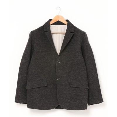 quadro / sot / 1/8英国羊毛破れ斜文織樹脂加工テーラードジャケット MEN ジャケット/アウター > テーラードジャケット
