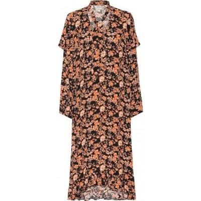 バウム ウンド ヘルガーデン Baum und Pferdgarten レディース ワンピース ミドル丈 ワンピース・ドレス ani floral midi dress Peach Black Floral