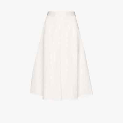 マルニ Marni レディース ひざ丈スカート スカート belted cotton A-line skirt white