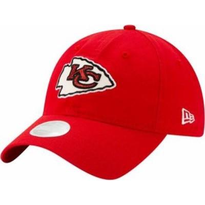 ニューエラ レディース 帽子 アクセサリー New Era Women's Kansas City Chiefs Red Glisten 9Twenty Adjustable Hat