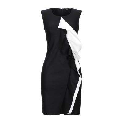 カルラ ジー CARLA G. ミニワンピース&ドレス ブラック 42 ウール 80% / ナイロン 17% / ポリウレタン 3% ミニワンピース