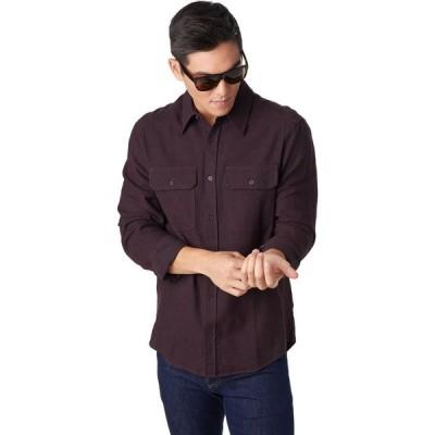 ストイック Stoic メンズ シャツ シャンブレーシャツ ネルシャツ トップス Chambray Flannel Shirt Blackberry Wine