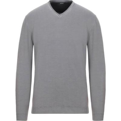 アルファス テューディオ ALPHA STUDIO メンズ ニット・セーター トップス sweater Grey