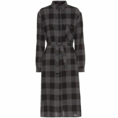 ウールリッチ Woolrich レディース ワンピース ワンピース・ドレス Checked wool-blend midi dress grey buffalo