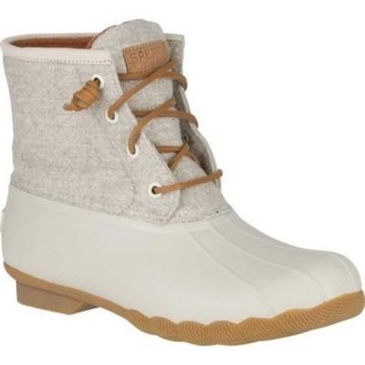 スペリートップサイダー Sperry Top-Sider レディース ブーツ シューズ・靴 Saltwater Duck Boot Off White Wool