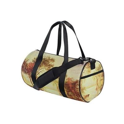 Huakz Van Gogh Oil Painting Travel Duffle Bag Landscape Painting Single sho