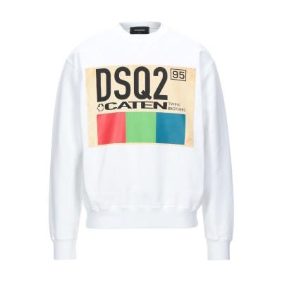 ディースクエアード DSQUARED2 スウェットシャツ ホワイト M コットン 100% / ポリウレタン スウェットシャツ