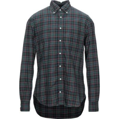 ギットマンブラザーズ GITMAN BROS. Vintage メンズ シャツ トップス checked shirt Dark green