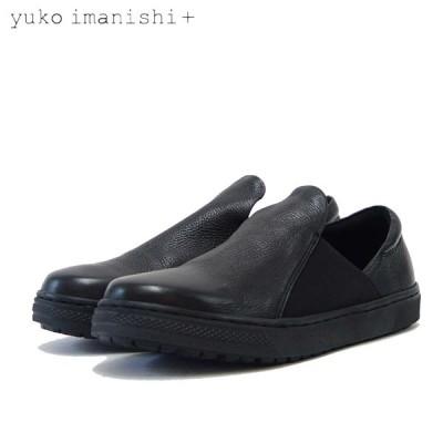 ユーコ イマニシ yuko imanishi +   796017 ブラック 甲深 フラット スリッポンシューズ