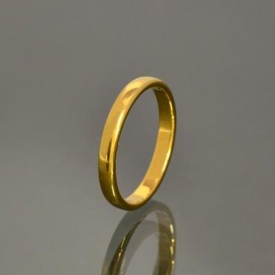 指輪 タングステン シンプルな甲丸リング 幅3.0mm 金色 ゴールド Tungsten アクセサリー レディース メンズ
