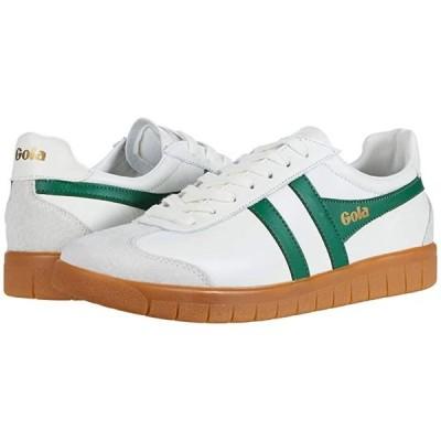 ゴーラ Hurricane Leather メンズ スニーカー 靴 シューズ Off-White/Green/Gum