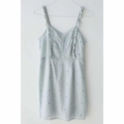 アーバンアウトフィッターズ Urban Outfitters レディース ワンピース ミニ丈 ワンピース・ドレス UO Tara Embroidered Mini Dress Blue