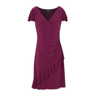 LAUREN RALPH LAUREN ミニワンピース&ドレス ボルドー 4 95% ポリエステル 5% ポリウレタン ミニワンピース&ドレス
