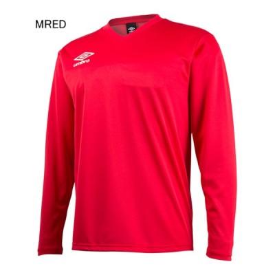 アンブロ サッカー プラクティスシャツ ジュニア セカンダリー L/S シャツ Mレッド×ホワイト MRED UM-UBS7637JL-MRED