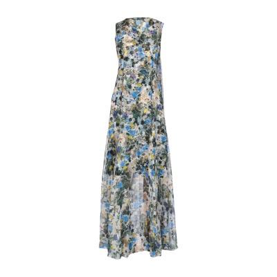アーデム ERDEM ロングワンピース&ドレス アジュールブルー 10 シルク 100% ロングワンピース&ドレス