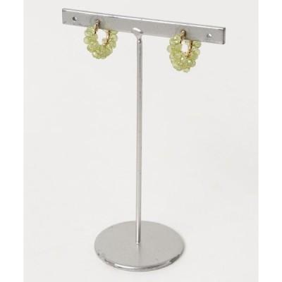 イヤリング 【marinaJEWELRY】宝石質 Peridot pave earring