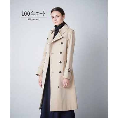 【サンヨーコート】 <100年コート>ダブルトレンチロングコート(三陽格子) レディース ベージュ 42 SANYOCOAT