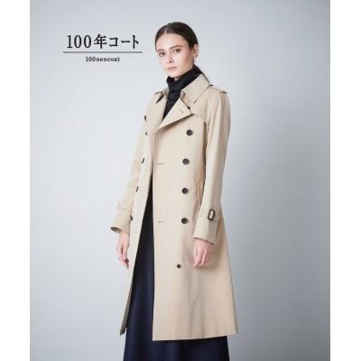 【サンヨーコート】 ◆◆<100年コート>ダブルトレンチロングコート(三陽格子) レディース ベージュ 40 SANYOCOAT