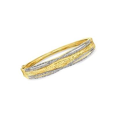 特別価格Ross-Simons 0.25 ct. t.w. Diamond Bangle Bracelet in 18kt Gold Over Sterlin並行輸入品