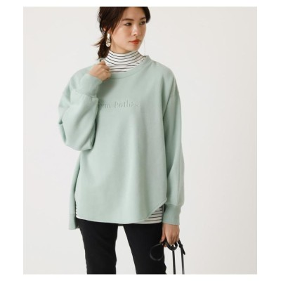 【アズールバイマウジー】 EMBOSSENT SWEAT TOP レディース MINT M AZUL BY MOUSSY