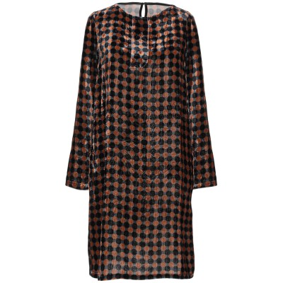SIYU ミニワンピース&ドレス ブラック 42 レーヨン 82% / シルク 18% ミニワンピース&ドレス