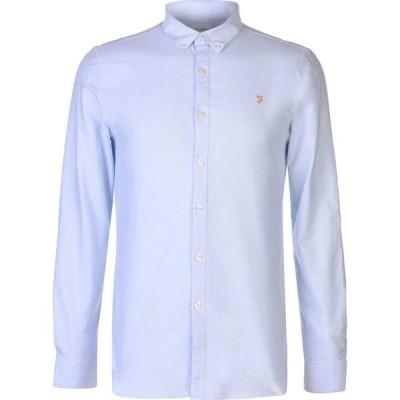 ファーラーヴィンテージ Farah Vintage メンズ シャツ トップス Oxford Long Sleeve Shirt Sky Blue