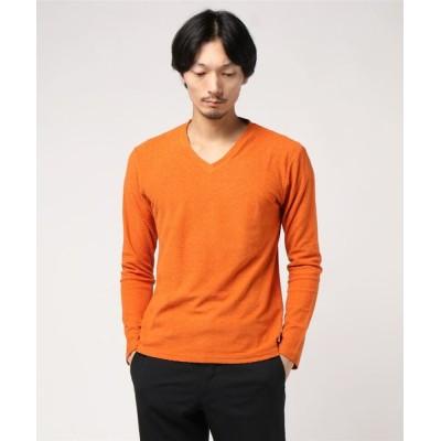 tシャツ Tシャツ HIGH STREET∴ランダムパイル長袖Vネック