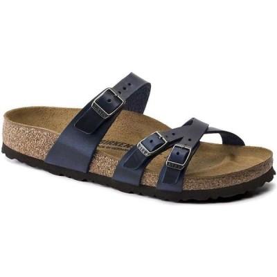 ビルケンシュトック Birkenstock USA レディース サンダル・ミュール シューズ・靴 Birkenstock Franca Sandal Blue Oiled Leather