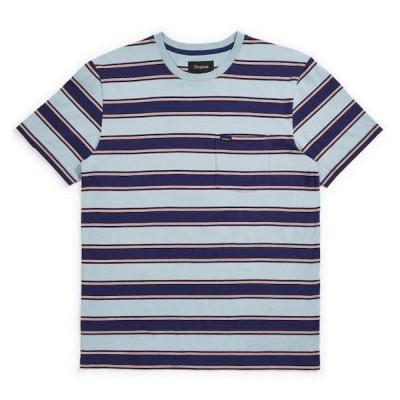 Brixton Hilt Pocket T-Shirt Blue Stone S Tシャツ 送料無料