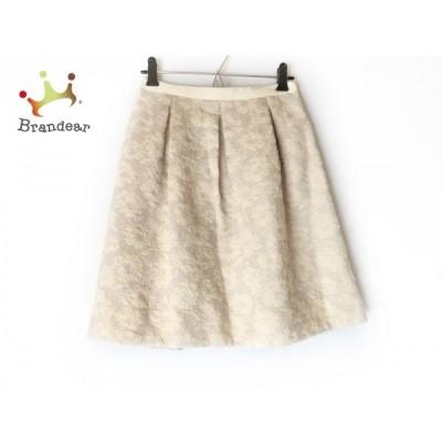 アプワイザーリッシェ スカート サイズ1 S レディース 美品 ベージュ×シルバー 花柄/ラメ     スペシャル特価 20200620