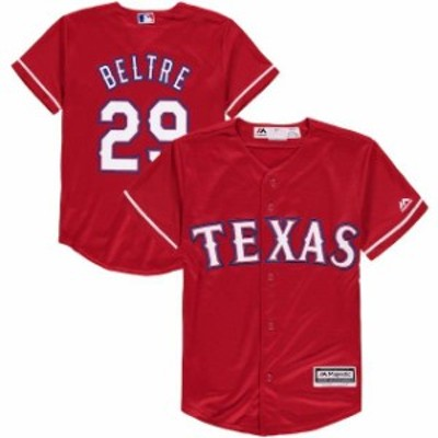 Majestic マジェスティック スポーツ用品  Majestic Adrian Beltre Texas Rangers Youth Scarlet Alternate Official Cool