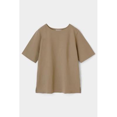 (moussy/マウジー)PLATE HALF SLEEVE Tシャツ/レディース BEG