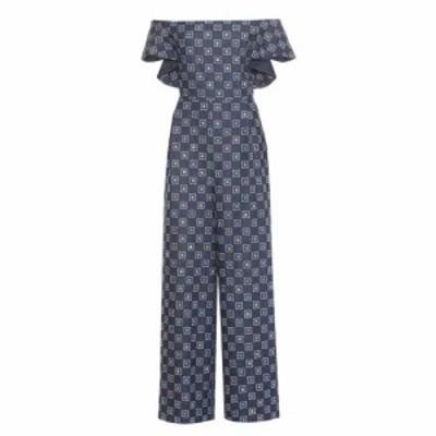フーシャン ツァン Huishan Zhang レディース オールインワン ワンピース・ドレス Silas embroidered denim jumpsuit Denim Blue