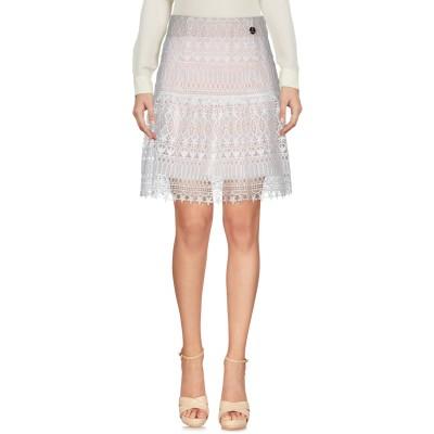 MANGANO ひざ丈スカート ライトピンク S ポリエステル 92% / ポリウレタン 8% ひざ丈スカート
