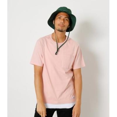 【30%OFF】 COLOR PIGMENT LIKE POCKET TEE/カラーピグメントライクポケットTシャツ MENSメンズ