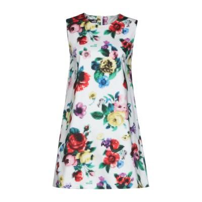 ラブ モスキーノ LOVE MOSCHINO ミニワンピース&ドレス ホワイト 44 コットン 97% / ポリウレタン 3% ミニワンピース&ドレス