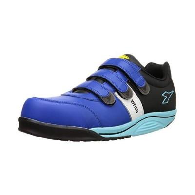 [ディアドラユーティリティ] 安全作業靴 JSAA認定 マジックタイプ 耐油 プロスニーカー WREN レン WR412 ブルー/ホ