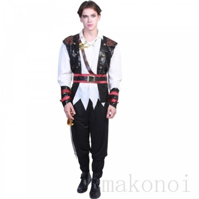 Men's ハロウィン 衣装 男海賊 ジャック船長パイレーツオブカリ ビアン 男性用 メンズ用 ハロウィーン 王様ハロウィン衣装 コスプレ衣装 コスチューム