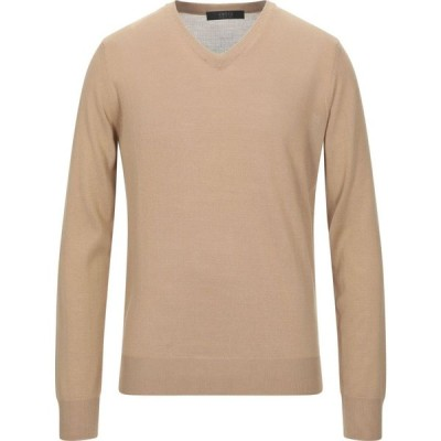ブイネック VNECK メンズ ニット・セーター トップス sweater Camel