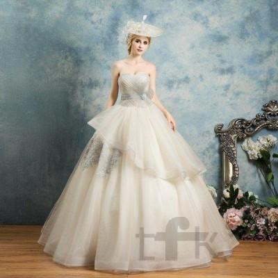 カラードレス ロング  ノースリーブ カラードレス 二次会 パーティードレス  編み上げ 花嫁 ウェディングドレス ウエディング 結婚式 演奏会